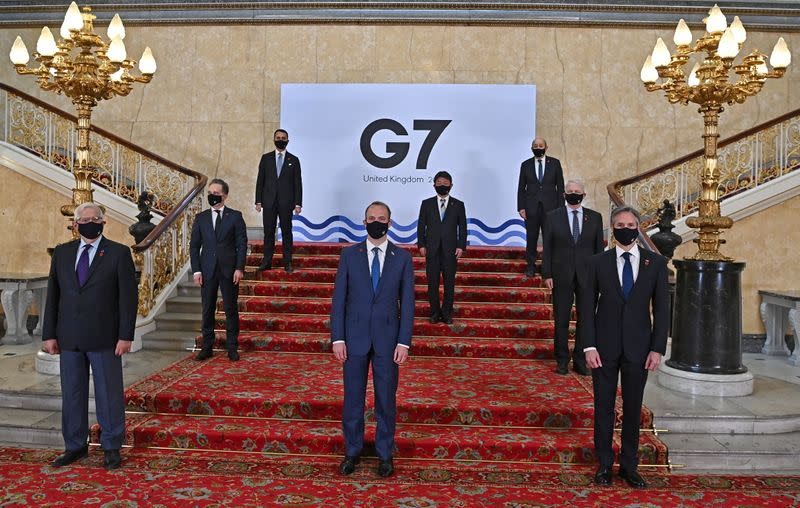 G7 foreign ministers convene in London for the first face-to-face meeting in two years