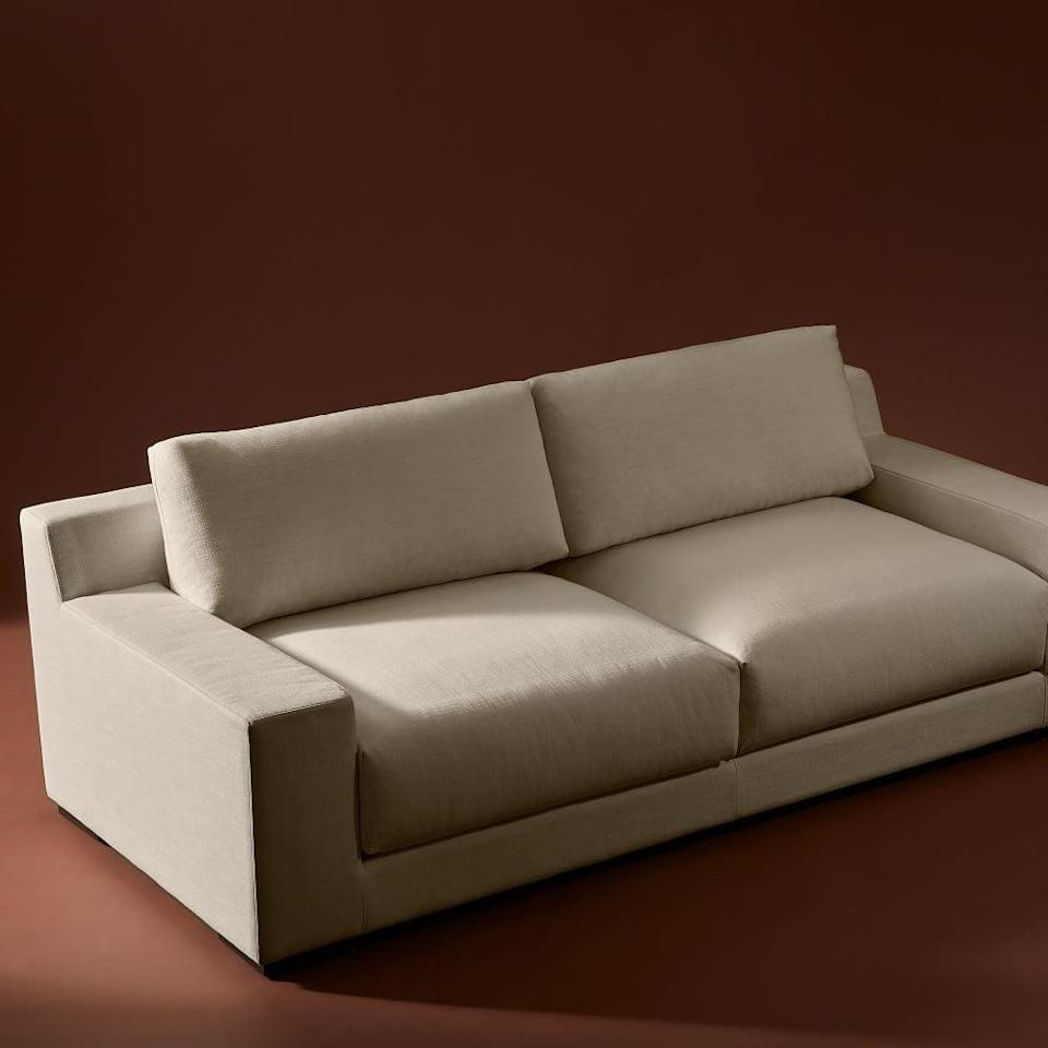 <p>It's no secret that the retailer has great sofas, and we're into the new <span>West Elm Dalton Sofa</span> ($1,799-$2,399). The plush, deep cushions look so lounge-worthy. It also comes in a large, cozy <span>sectional option</span>.</p>
