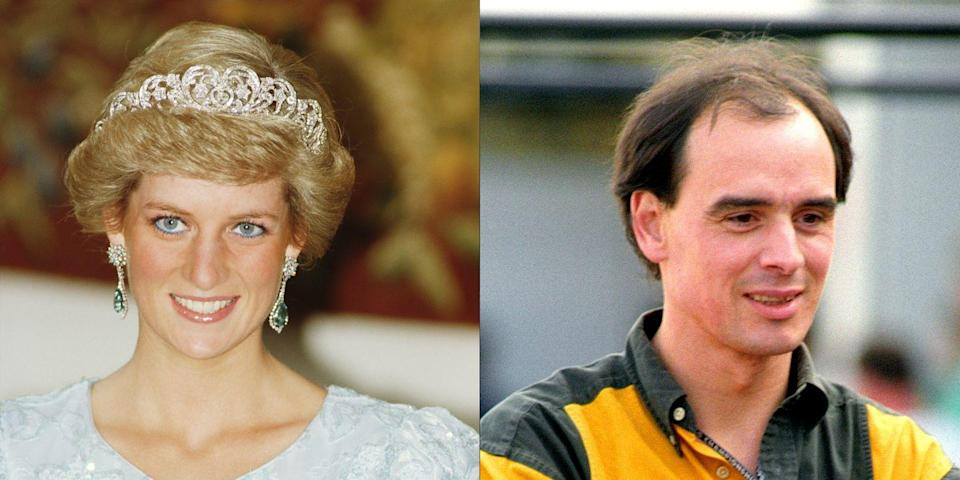 "<p>In 1992, <em>The Sun</em> released a transcript of a recorded conversation the princess had with her <a href=""https://www.marieclaire.com/culture/g14516650/royal-family-pr-scandals/?slide=14"" rel=""nofollow noopener"" target=""_blank"" data-ylk=""slk:alleged lover"" class=""link rapid-noclick-resp"">alleged lover</a>, James Gilbey, in which he called her ""Squidgy."" At the time, she was still married to the Queen of England's oldest son, Prince Charles, who was having an affair of his own with future second wife Camilla Parker Bowles. </p>"
