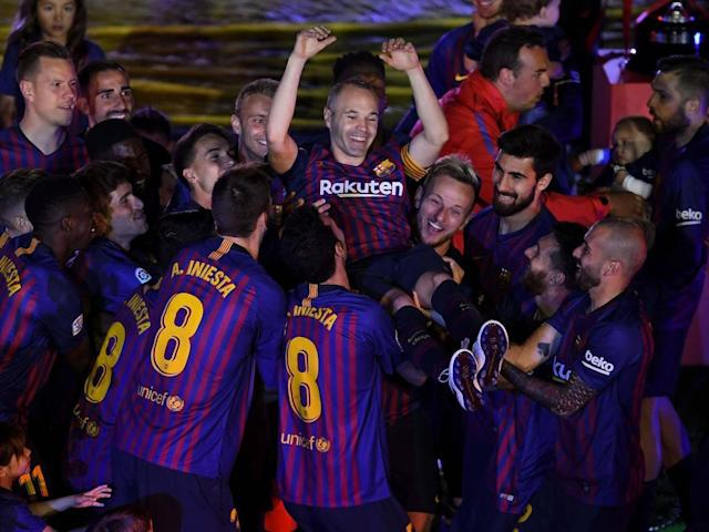 Andres Iniesta bids tearful farewell to Barcelona after final Nou Camp game