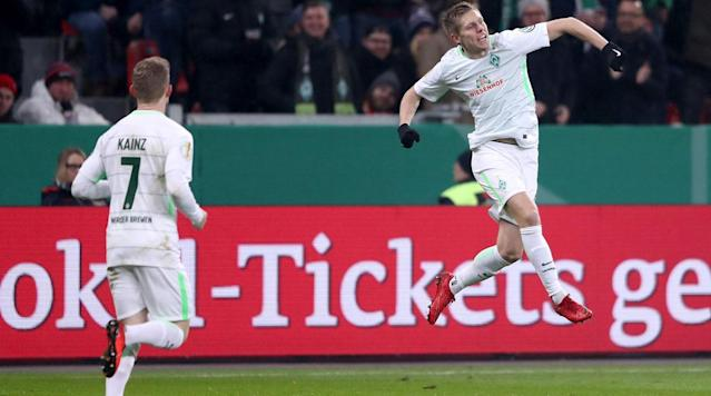 <p>U.S. men's national team forward Aron Johannsson has endured a rough couple of seasons with Werder Bremen, combating injuries and a lack of playing time, but he's fit again and featuring for the squad now and finally back on the scoreboard.</p><p>Johannsson scored in Bremen's DFB Pokal quarterfinal against Bayer Leverkusen on Tuesday, chipping the goalkeeper in the seventh minute to double his sides early lead. Johannsson had last scored in any competition on Sept. 11, 2016, against Augsburg.</p><p>Bremen wound up blowing the lead, conceding four unanswered in a 4-2 extra-time loss to bow out of the competition, and Johannsson wound up being subbed off at halftime.</p><p>Johannsson, 27, has 19 caps and four goals for the USA in an international career that dates back to 2013 and includes a place at the 2014 World Cup, but he hasn't played for the national team since making an appearance off the bench in a September 2015 friendly against Brazil.</p>