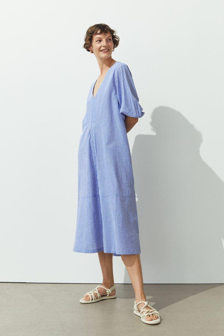 """<br><br><strong>H&M</strong> Wide-cut Cotton Dress, $, available at <a href=""""https://go.skimresources.com/?id=30283X879131&url=https%3A%2F%2Fwww2.hm.com%2Fen_us%2Fproductpage.0930910002.html"""" rel=""""nofollow noopener"""" target=""""_blank"""" data-ylk=""""slk:H&M"""" class=""""link rapid-noclick-resp"""">H&M</a>"""