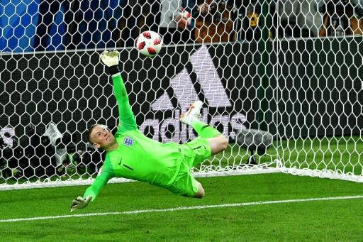 Jordan Pickford thrust up his left arm to save Carlos Bacca's penalty and put England on the path to victory