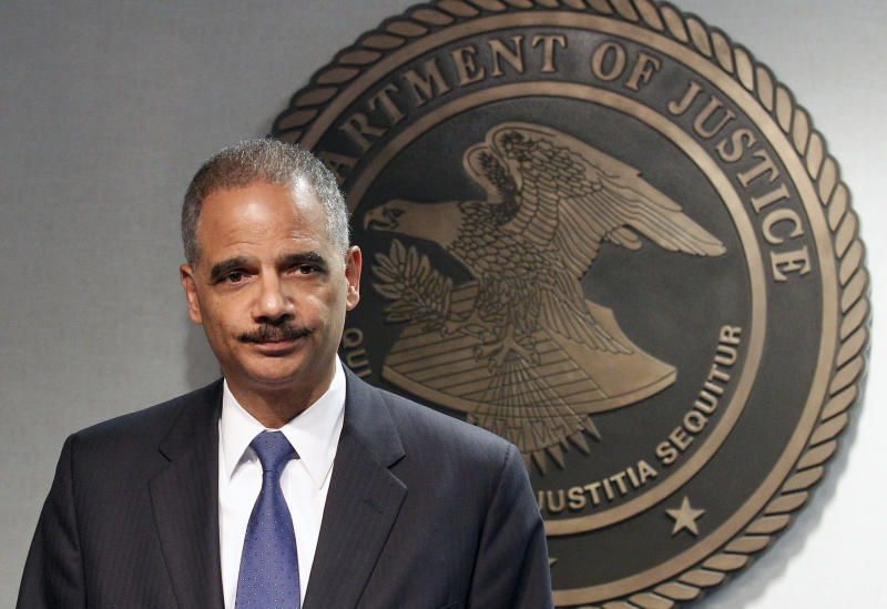 Attorney General Eric Holder speaks during  a news conference in New Orleans, Thursday, June 28, 2012. The Obama administration and House Republicans refused to find a middle ground in a dispute over documents related to a botched gun-tracking operation, and the GOP plunged ahead with plans for precedent-setting votes Thursday to hold Attorney General Eric Holder in civil and criminal contempt o Congress. (AP Photo/Bill Haber)