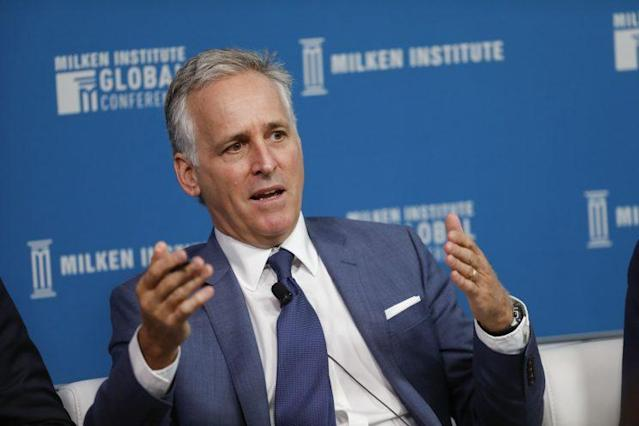 Richard Pops, chairman and chief executive officer of Alkermes, speaks during the Milken Institute Global Conference in Beverly Hills, Calif., on May 1, 2017. (Photo: Patrick T. Fallon/Bloomberg via Getty Images)