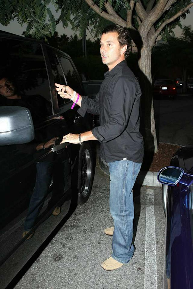 """Gavin Rossdale was still wearing his hospital bracelet when he emerged to report that wife Gwen Stefani was """"doing well"""" following the birth of their second son on Thursday. The couple named the boy Zuma Nesta Rock Rossdale. <a href=""""http://www.x17online.com"""" target=""""new"""">X17 Online</a> - August 19, 2008"""