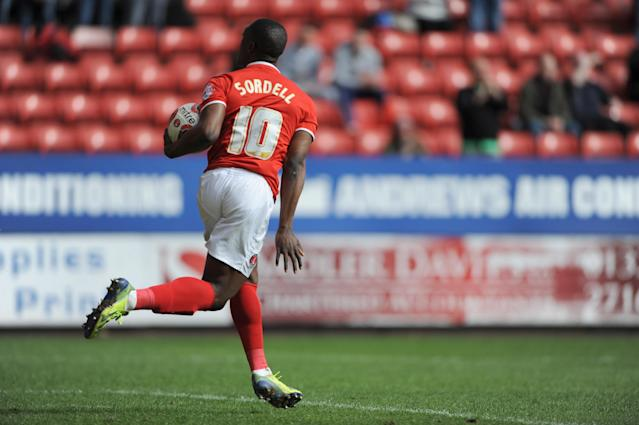 Sordell scored eight goals for Charlton in one season on loan. (Credit: Getty Images)