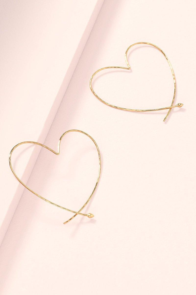Stella & Dot Heart Hoops