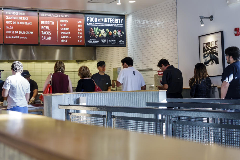 The queue inside Chipotle in Miami. (Photo by: Jeffrey Greenberg/Universal Images Group via Getty Images)