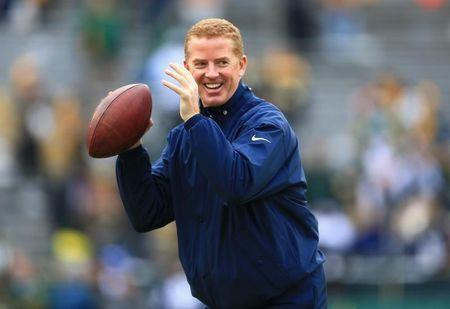 Jan 11, 2015; Green Bay, WI, USA; Dallas Cowboys head coach Jason Garrett before the 2014 NFC Divisional playoff football game against the Green Bay Packers at Lambeau Field. Mandatory Credit: Andrew Weber-USA TODAY Sports