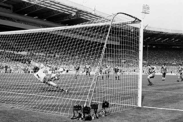 Wimbledon goalkeeper Dave Beasant made history with his penalty save (PA)