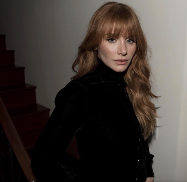 "<p>""Because we stand together. #TimesUp #WhyWeWearBlack,"" wrote the actress. (Photo: <a href=""https://www.instagram.com/p/BdqtvRBhd8p/?hl=en&taken-by=brycedhoward"" rel=""nofollow noopener"" target=""_blank"" data-ylk=""slk:Bryce Dallas Howard via Instagram"" class=""link rapid-noclick-resp"">Bryce Dallas Howard via Instagram</a>) </p>"