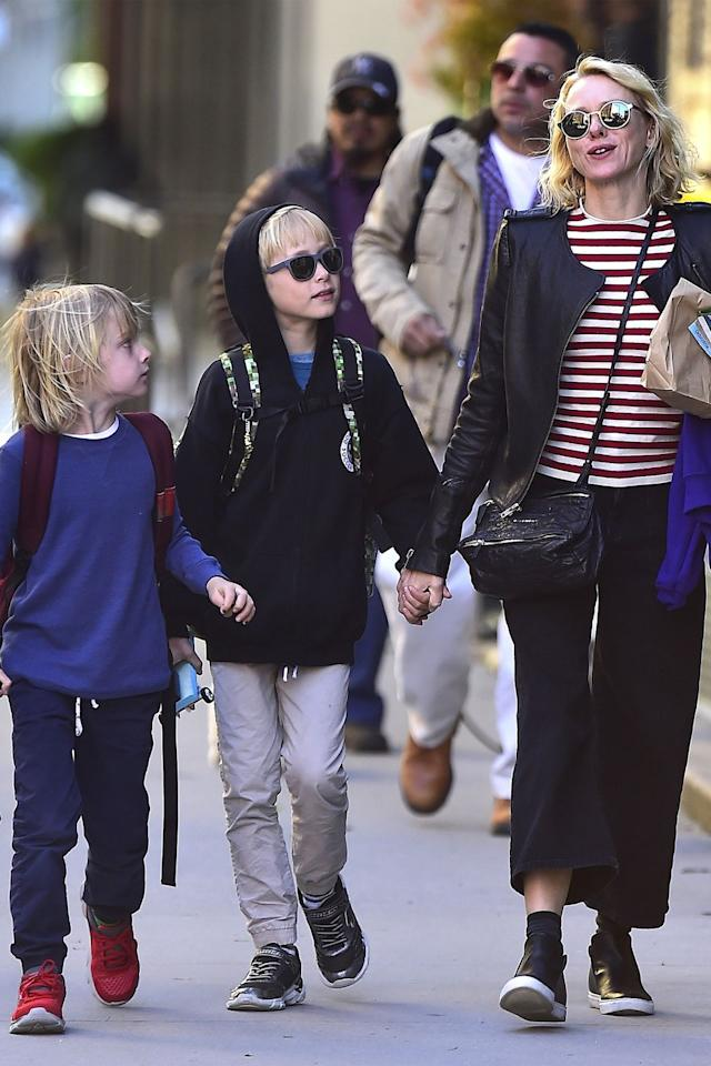 """<p>The mother of two boys, Sasha and Kai, whom she had at 39 and 40, respectively, Naomi Watts told <a href=""""http://celebritybabies.people.com/2014/09/22/naomi-watts-more-magazine-cover-kids/"""" target=""""_blank""""><em>People</em></a> that she wished she and then partner Liev Schreiber had more children. """"I should have had more kids, started younger,"""" Watts said in the magazine's October 2014 issue.</p>"""