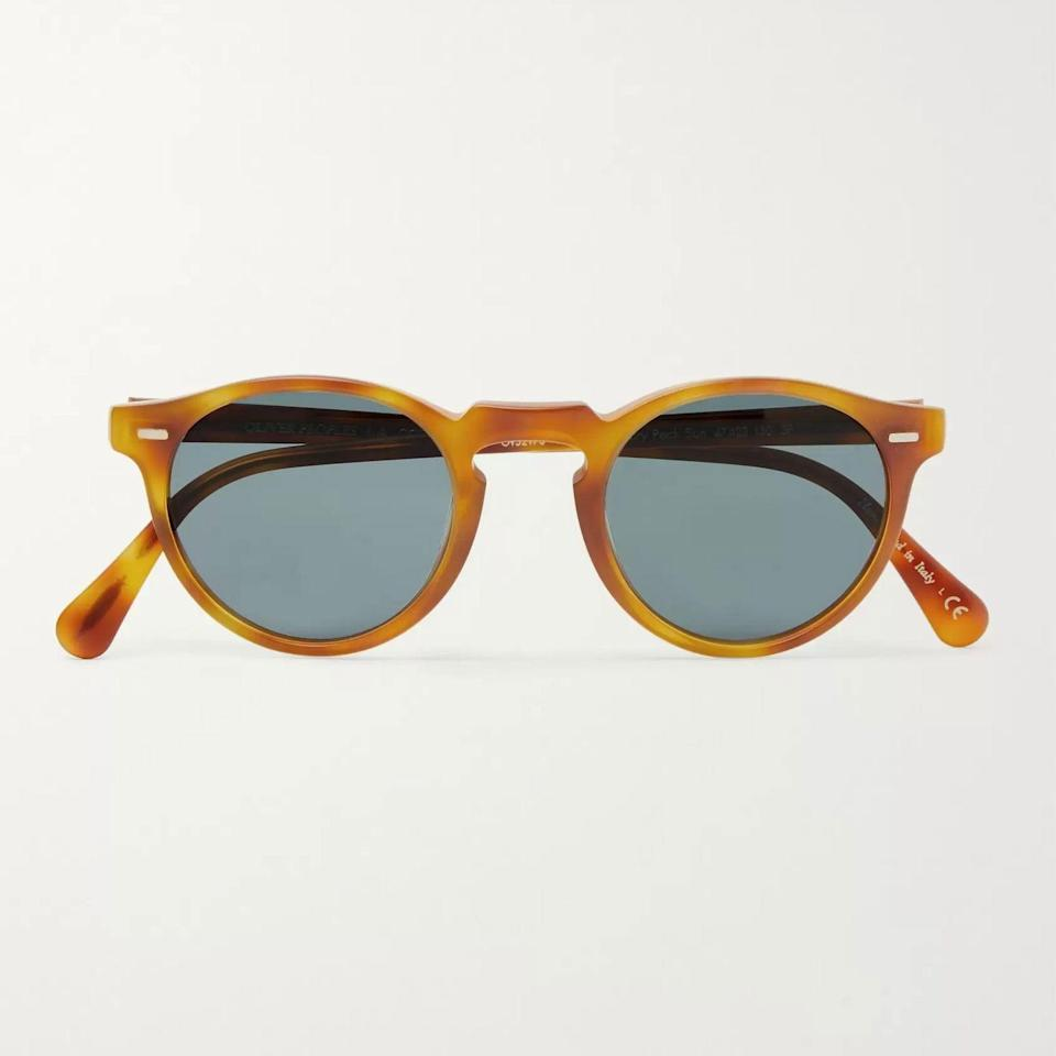 """<p><strong>Oliver Peoples</strong></p><p>mrporter.com</p><p><strong>$420.00</strong></p><p><a href=""""https://go.redirectingat.com?id=74968X1596630&url=https%3A%2F%2Fwww.mrporter.com%2Fen-us%2Fmens%2Fproduct%2Foliver-peoples%2Faccessories%2Fround-frame%2Fgregory-peck-round-frame-acetate-sunglasses%2F666467151992255&sref=https%3A%2F%2Fwww.esquire.com%2Fstyle%2Fmens-fashion%2Fg36561704%2Fbest-new-menswear-may-28-2021%2F"""" rel=""""nofollow noopener"""" target=""""_blank"""" data-ylk=""""slk:Shop Now"""" class=""""link rapid-noclick-resp"""">Shop Now</a></p><p>The shape is inspired by the pair Peck wore in <em>To Kill a Mockingbird.</em> If it's good enough for him, believe me: It's good enough for you.</p>"""