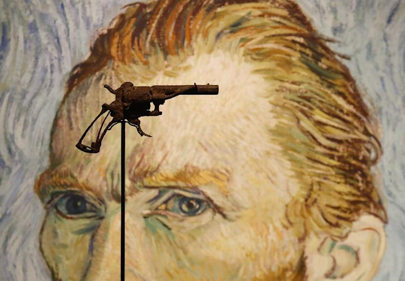 Fatal weapon: The revolver Vincent Van Gogh is believed to have shot himself with was found in a field by a farmer in 1965, 75 years after the painter's death (AFP Photo/FRANCOIS GUILLOT)