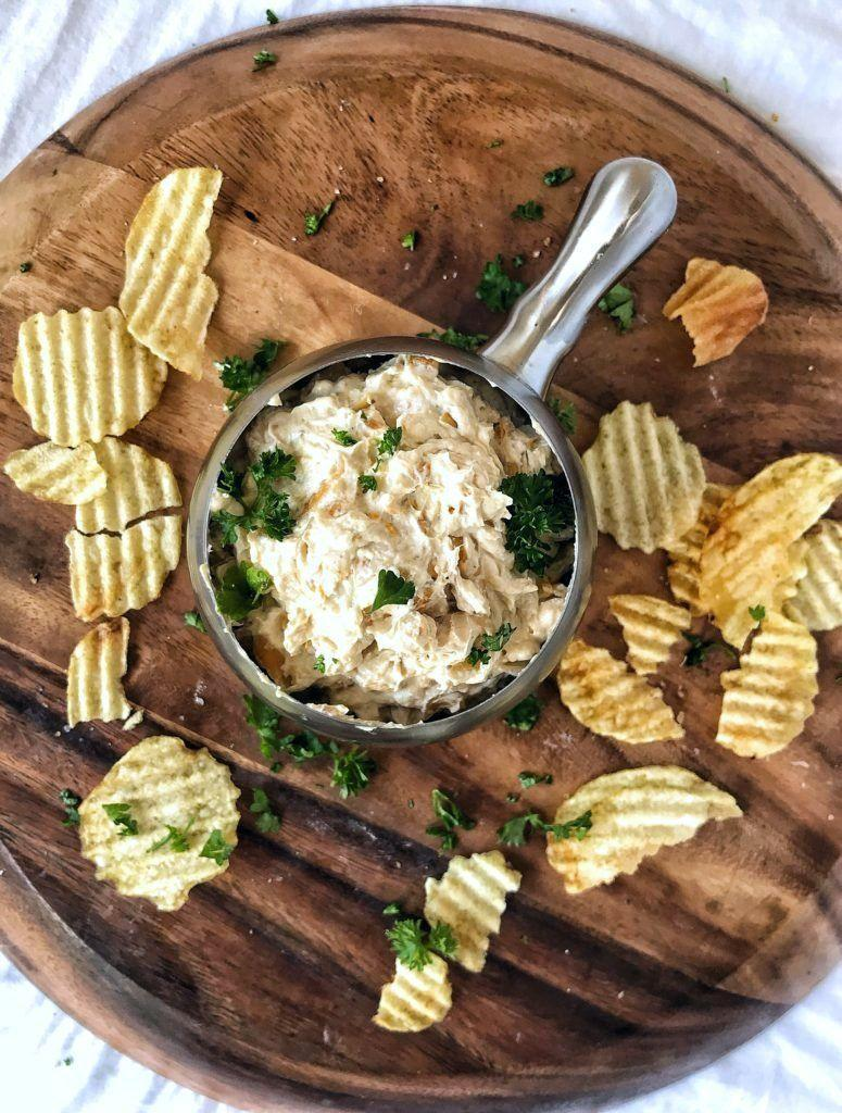 "<p>Nope— no <a href=""https://www.goodhousekeeping.com/food-recipes/a9426/french-onion-soup/"" rel=""nofollow noopener"" target=""_blank"" data-ylk=""slk:onion soup"" class=""link rapid-noclick-resp"">onion soup</a> mix packets here. You won't believe how easy (and tasty!) it is when you make it from scratch.</p><p><em><a href=""https://www.sweetteaandthyme.com/french-onion-dip/"" rel=""nofollow noopener"" target=""_blank"" data-ylk=""slk:Get the recipe from Sweet Tea + Thyme »"" class=""link rapid-noclick-resp"">Get the recipe from Sweet Tea + Thyme »</a></em></p>"