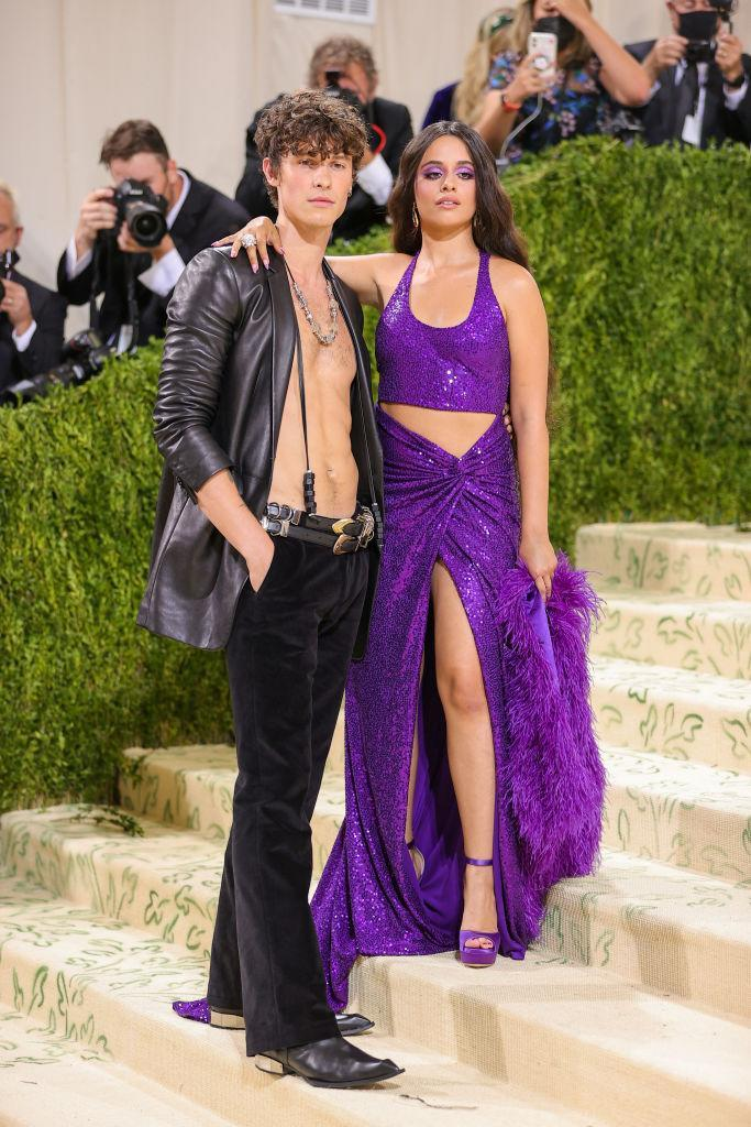 Shawn Mendes and Camila Cabello both opted for brave boundary-pushing ensembles at last night's Met Gala. (Getty Images)