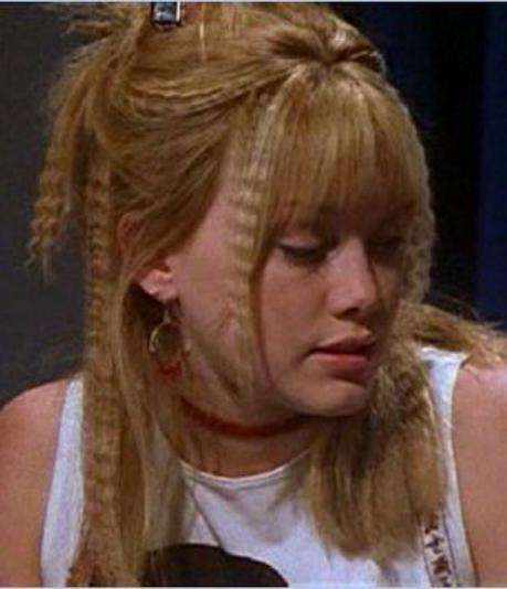 "<p>""<em>Lizzie McGuire</em> days, wow! I mean, at the time I thought I was crushing it. Crushing life!  But now, I just don't understand. The hair is way too organized to be cool now: the placements of the straight and the crimpy hair, and then there's probably all kinds of accessories up here that you just can't see.""</p>"