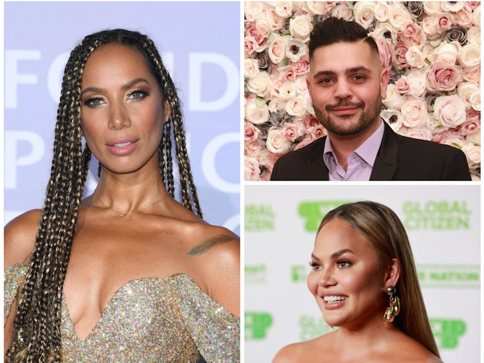 Leona Lewis has called out Michael Costello (top right) after he claimed he was a victim of bullying by Chrissy Teigen (Getty)