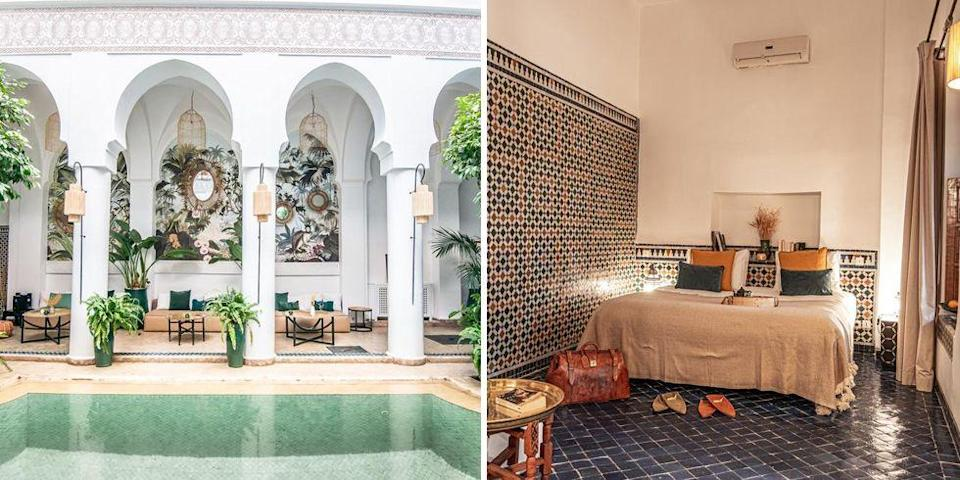 """<p>To fully embrace Marrakech, we recommend staying in one of the traditional riads such as <a href=""""https://go.redirectingat.com?id=127X1599956&url=https%3A%2F%2Fwww.booking.com%2Fhotel%2Fma%2Fpalais-calipau.en-gb.html%3Faid%3D2070929%26label%3Dtrending-summer-destinations&sref=https%3A%2F%2Fwww.redonline.co.uk%2Ftravel%2Finspiration%2Fg35851087%2Fsummer-holiday-destinations%2F"""" rel=""""nofollow noopener"""" target=""""_blank"""" data-ylk=""""slk:Riad Palais Calipau"""" class=""""link rapid-noclick-resp"""">Riad Palais Calipau</a>. This five-star spot in the heart of the medina in the Casbah district offers two traditional restaurants, a roof top terrace, massage room, hammam and indoor swimming pool.</p><p><a class=""""link rapid-noclick-resp"""" href=""""https://go.redirectingat.com?id=127X1599956&url=https%3A%2F%2Fwww.booking.com%2Fhotel%2Fma%2Fpalais-calipau.en-gb.html%3Faid%3D2070929%26label%3Dtrending-summer-destinations&sref=https%3A%2F%2Fwww.redonline.co.uk%2Ftravel%2Finspiration%2Fg35851087%2Fsummer-holiday-destinations%2F"""" rel=""""nofollow noopener"""" target=""""_blank"""" data-ylk=""""slk:CHECK AVAILABILITY"""">CHECK AVAILABILITY</a></p>"""