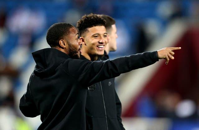 The likes of Raheem Sterling and Jadon Sancho are battling it out to start England's opening fixture.
