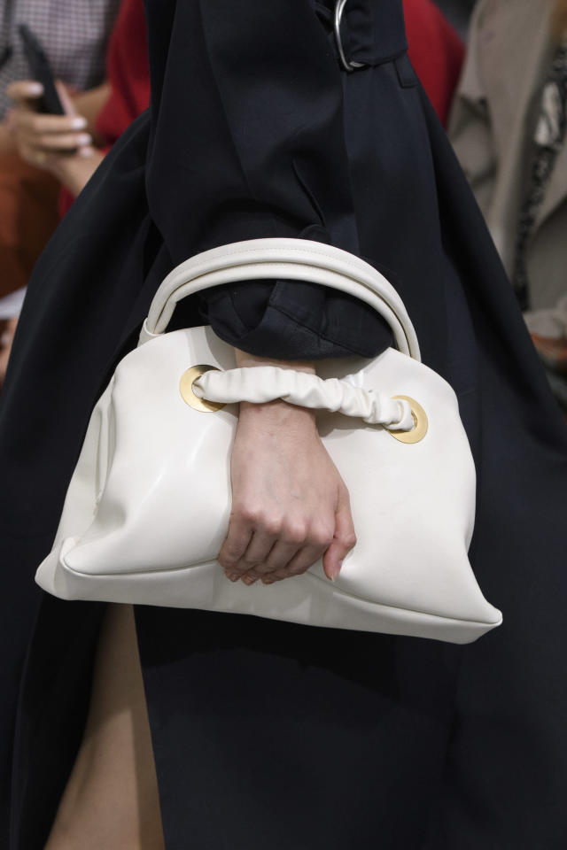 <p><i>White leather handag from the SS18 Céline collection. (Photo: ImaxTree) </i></p>