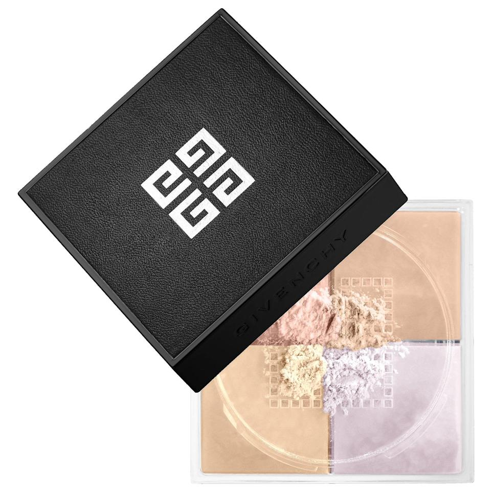 "<p>The unique thing about this top-rated <a href=""https://www.popsugar.com/buy/Givenchy-Prisme-Libre-Loose-Powder-587063?p_name=Givenchy%20Prisme%20Libre%20Loose%20Powder&retailer=sephora.com&pid=587063&price=40&evar1=bella%3Aus&evar9=47597630&evar98=https%3A%2F%2Fwww.popsugar.com%2Ffashion%2Fphoto-gallery%2F47597630%2Fimage%2F47597634%2FGivenchy-Prisme-Libre-Loose-Powder&list1=makeup%2Csephora%2Cbeauty%20shopping&prop13=api&pdata=1"" class=""link rapid-noclick-resp"" rel=""nofollow noopener"" target=""_blank"" data-ylk=""slk:Givenchy Prisme Libre Loose Powder"">Givenchy Prisme Libre Loose Powder</a> ($40-$58) is each palette features four colors, two for color correction and two for radiance. With options for fair to deep skin tones, each set comes together to blur imperfections and set foundation. </p>"