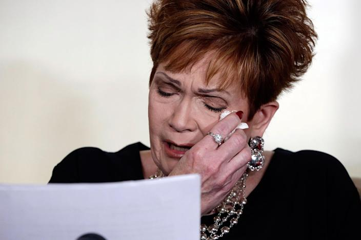 """<p>NOV. 13, 2017 – Beverly Young Nelson, one of the accusers of Alabama Republican Roy Moore, reads her statement at a news conference, in New York. Nelson says Moore assaulted her when she was 16 and he offered her a ride home from a restaurant where she worked. Moore says the latest allegations against him are a """"witch hunt."""" (Photo: Richard Drew/AP) </p>"""