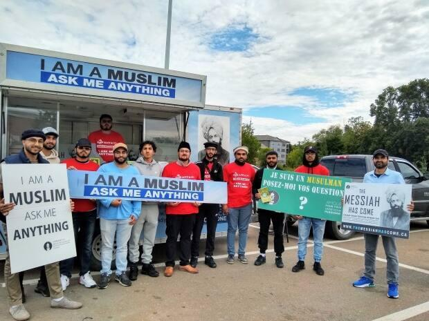 The Ahmadiyya Muslim Youth Association has been travelling across the country as part of a mobile exhibition called Islam in Motion. (Mrinali Anchan/CBC - image credit)
