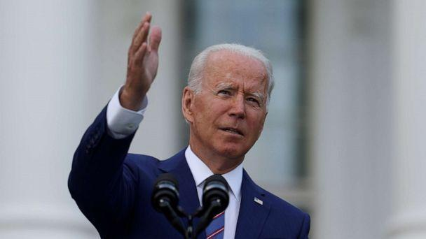 PHOTO: President Joe Biden delivers remarks at the White House in Washington, July 4, 2021. (Evelyn Hockstein/Reuters)