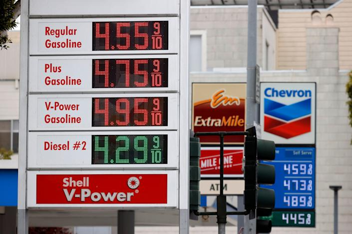 The price of gasoline in the San Francisco Bay Area is the highest in the nation with an average price of $4.46 for a gallon of regular in San Francisco. The statewide average in California is $4.30, the highest average in the state since 2012.