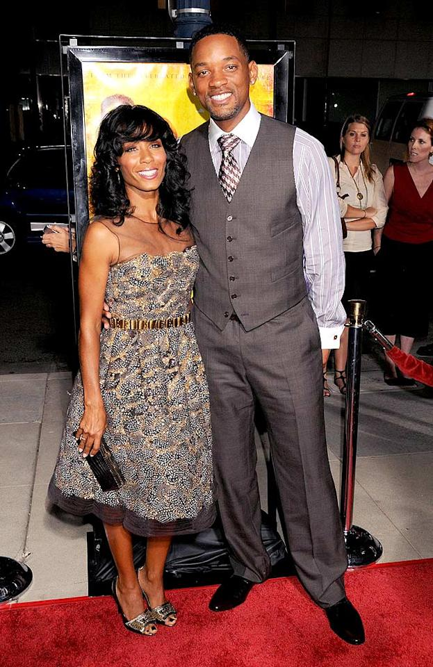 "According to Forbes.com, Will Smith is the most bankable star in Hollywood. He and his wife Jada may quite possibly be the hottest couple in Hollywood as well! Gregg DeGuire/<a href=""http://www.wireimage.com"" target=""new"">WireImage.com</a> - October 6, 2008"
