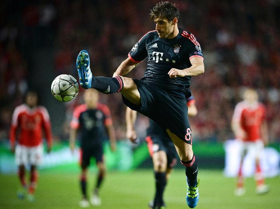 """""""We are going to attack from the first minute and we want to score an early goal,"""" Bayern's Javi Martinez said of Tuesday's Atletico clash (AFP Photo/Patricia De Melo Moreira)"""