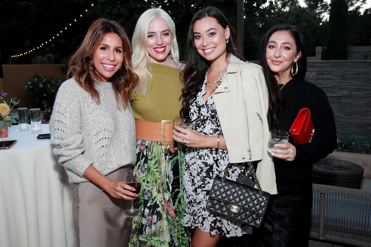 Ashley Torres (L), Kat Tanita (R) and guests attend the Mercedes-Benz and Glamour 2019 Women's Empowerment Dinner at the Bernardus Garden at Bernardus Lodge & Spa.