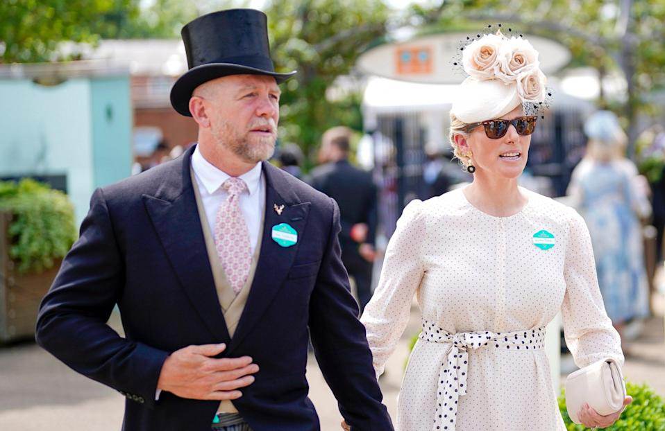 Zara Tindall arrives with husband Mike - Alan Crowhurst/Getty Images