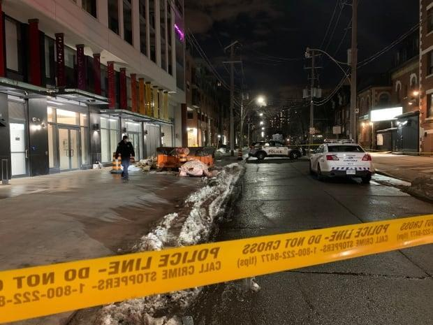 Toronto police have taped off part of George Street as they investigate.