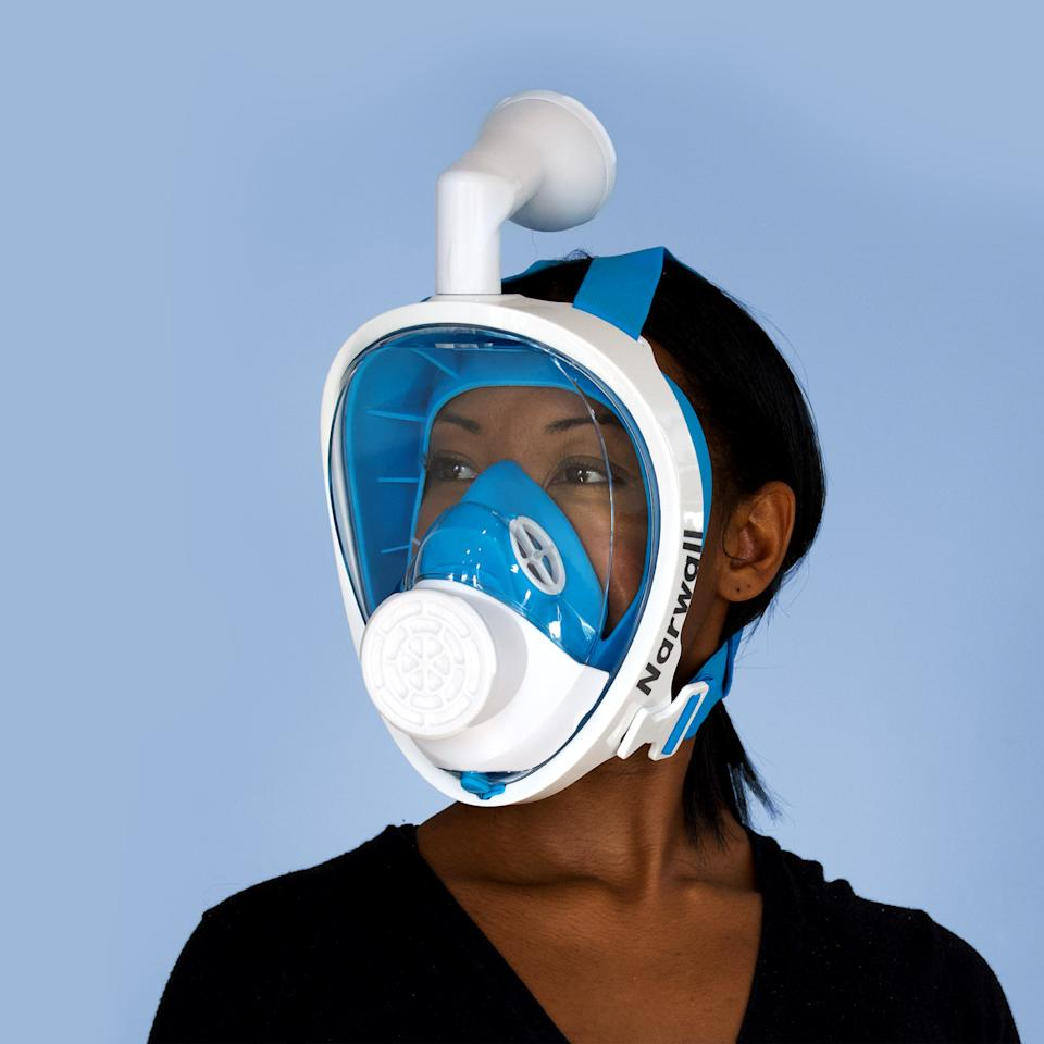 The Narwall Mask is inspired by snorkeling gear. (Photo: Narwall)