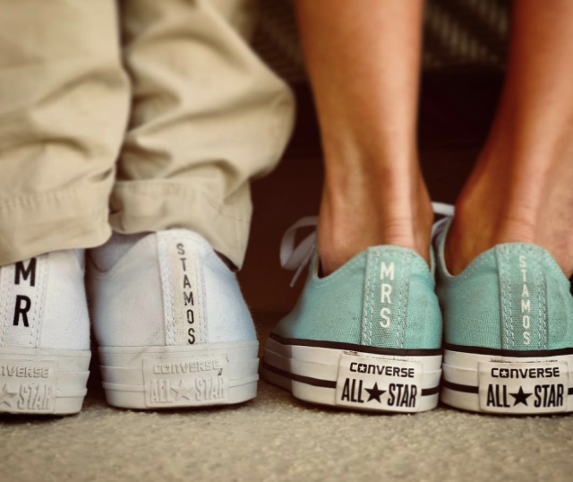 "<p>The newlyweds and parents-to-be had plenty to celebrate this February 14. ""From now on, the best part of me will always be you,"" eveyone's favorite TV Uncle wrote alongside this pic of the couple's two personalized pairs of Converse. (Photo: <a href=""https://www.instagram.com/p/BfMKI47HYck/?taken-by=johnstamos"" rel=""nofollow noopener"" target=""_blank"" data-ylk=""slk:John Stamos via Instagram"" class=""link rapid-noclick-resp"">John Stamos via Instagram</a>)<br><br></p>"