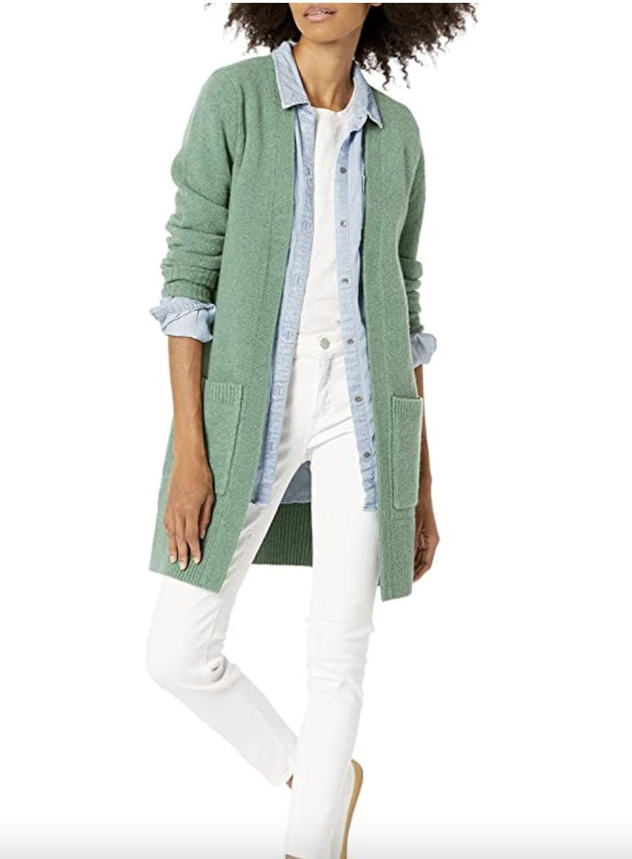 <p>This <span>Amazon Essentials Cardigan Sweater</span> ($43) looks feminine, sweet and polished, so we're sold. You can wear it as a standalone piece or style it over a tank top.</p>