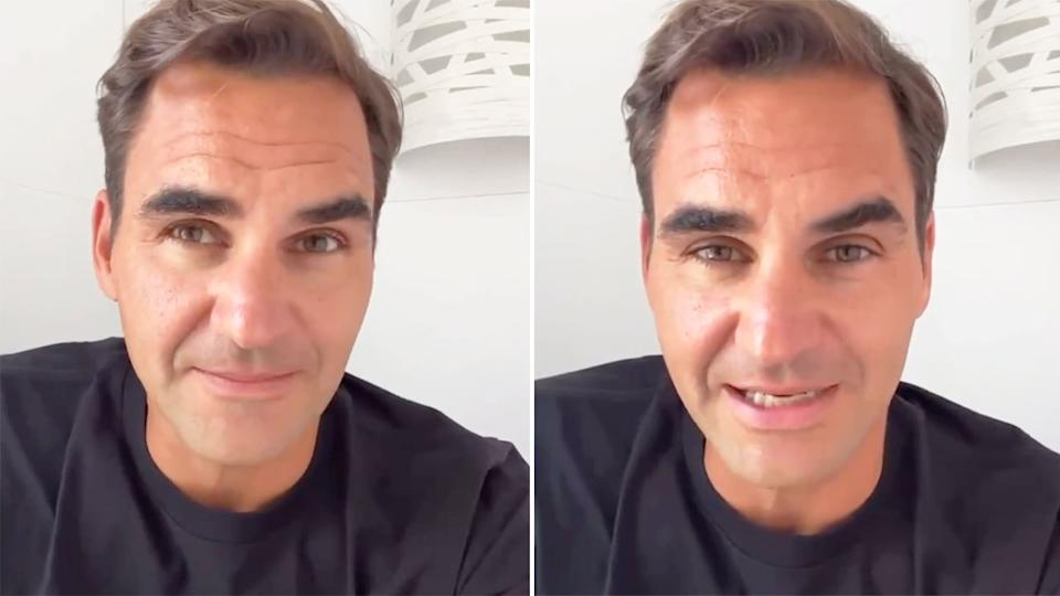 Seen here, Roger Federer reveals on Instagram that he will be out for months after having more knee surgery.