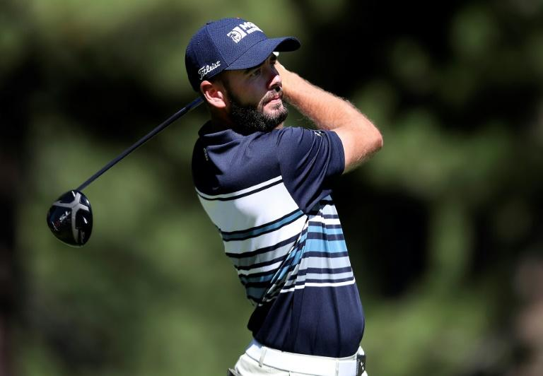 American Troy Merritt made eight birdies against two bogeys to score 14 points and grab the lead after three rounds of the US PGA Barracuda Championship at Truckee, California