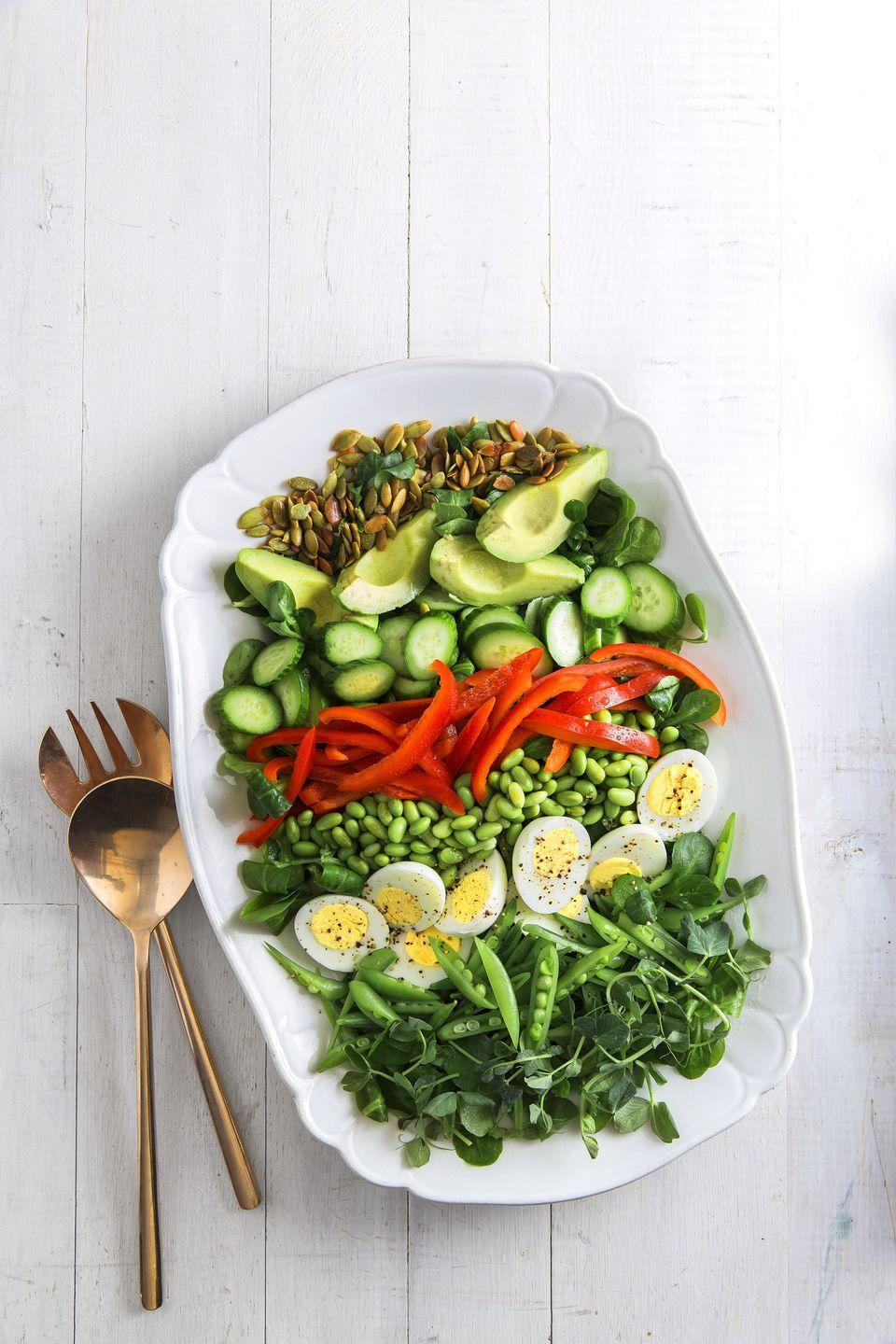 "<p>Get your daily dose of veggies with this fresh and colorful salad.</p><p><a href=""https://www.countryliving.com/food-drinks/recipes/a35067/green-machine-power-salad/"" rel=""nofollow noopener"" target=""_blank"" data-ylk=""slk:Get the recipe."" class=""link rapid-noclick-resp""><strong>Get the recipe.</strong></a></p>"