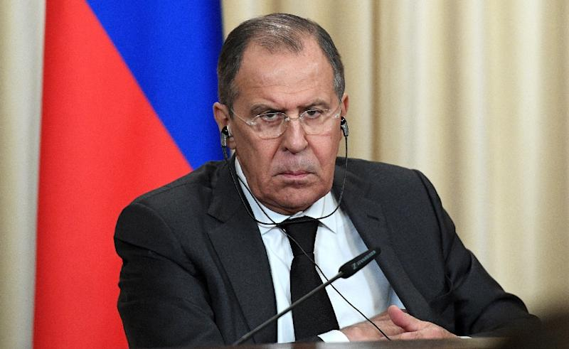 Russian Foreign Minister Sergei Lavrov said his ministry had asked Putin to declare 31 employees at the US embassy in Moscow and four at the country's consulate in second city Saint Petersburg personae non gratae (AFP Photo/Natalia KOLESNIKOVA)