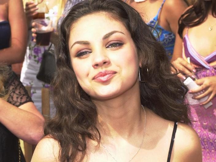 """Mila Kunis attended the Teen Choice Awards in August 2000. <p class=""""copyright"""">Chris Weeks/Liaison/Getty Images</p>"""
