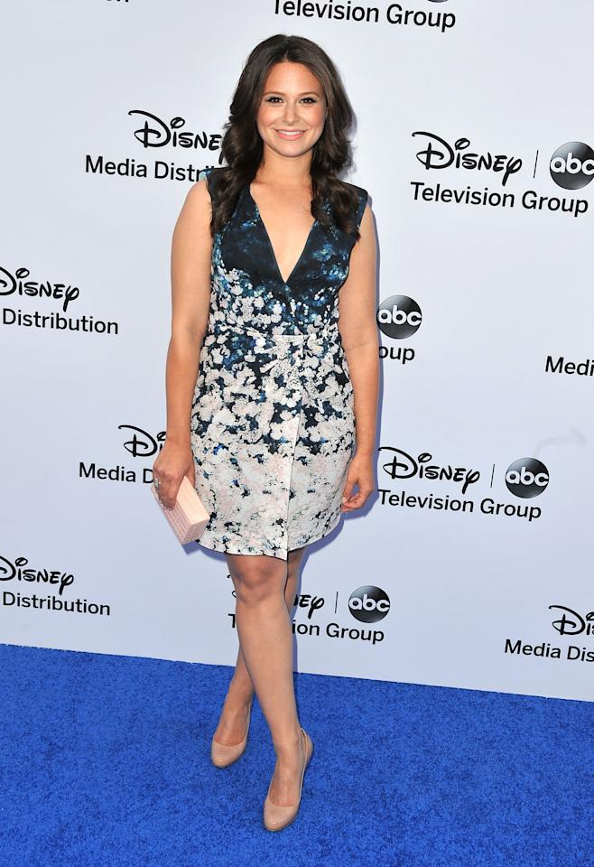 BURBANK, CA - MAY 19:  Actress Katie Lowes arrives at the Disney Media Networks International Upfronts at Walt Disney Studios on May 19, 2013 in Burbank, California.  (Photo by Angela Weiss/Getty Images)