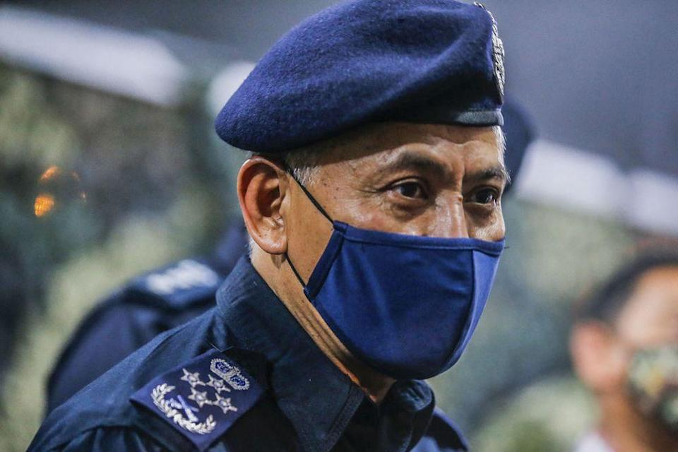 Inspector-General of Police Datuk Seri Acryl Sani Abdullah Sani also stressed that those found in breach of the standard operating procedures (SOPs) will be committing an offence under the Prevention and Control of Infectious Diseases Act, also called Act 342. — Picture by Hari Anggara
