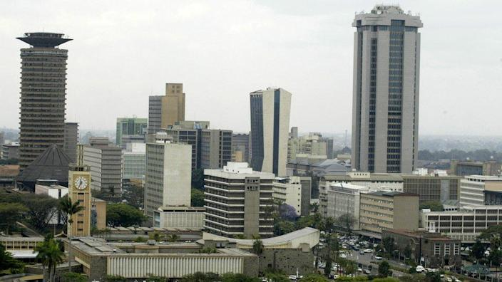 General view of cityscape (skyline) of Kenya's capital city.