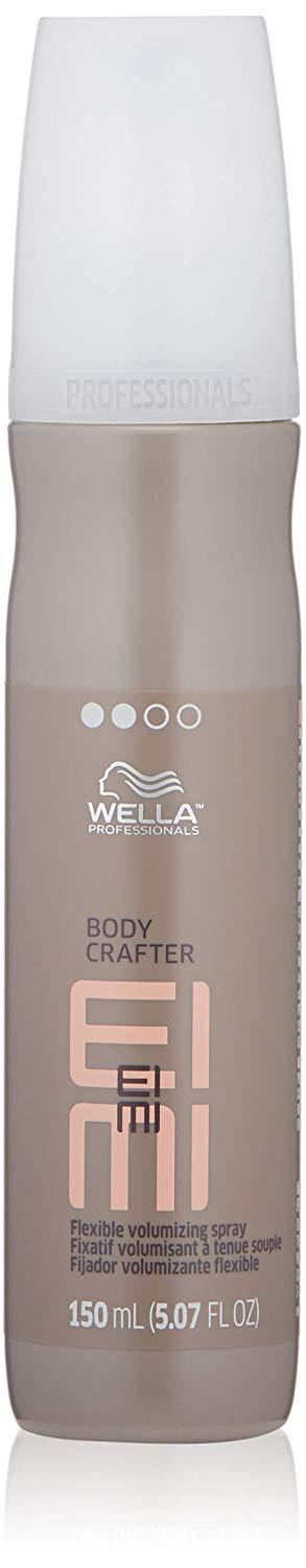 """<h3>Wella EIMI Body Crafter Flexible Volumizing Spray</h3><br><br>This volumizing spray adds body, smoothness, and flexible hold to any style.<br><br><strong>Wella</strong> EIMI Body Crafter Flexible Volumizing Spray, $, available at <a href=""""https://amzn.to/3dbPocv"""" rel=""""nofollow noopener"""" target=""""_blank"""" data-ylk=""""slk:Amazon"""" class=""""link rapid-noclick-resp"""">Amazon</a>"""