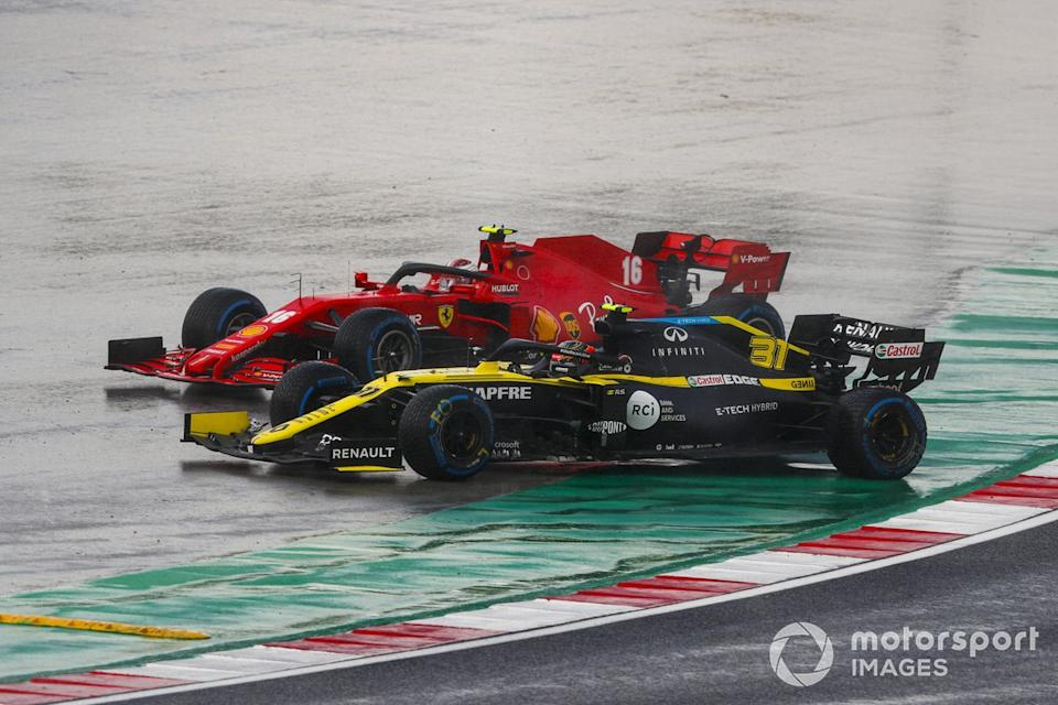 "Esteban Ocon, Renault F1 Team R.S.20, Charles Leclerc, Ferrari SF1000<span class=""copyright"">Charles Coates / Motorsport Images</span>"