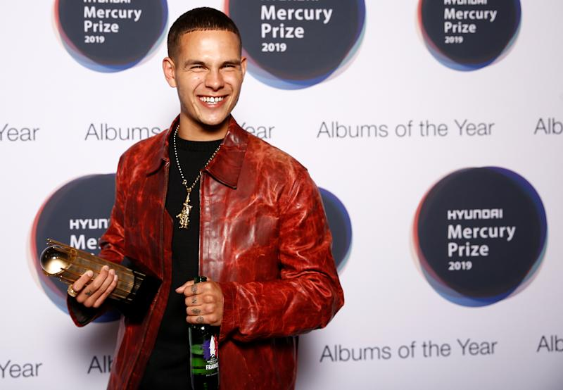 Slowthai poses as he arrives for Hyundai Mercury Prize for 'Album of the Year' ceremony in London, Britain, September 19, 2019. REUTERS/Henry Nicholls